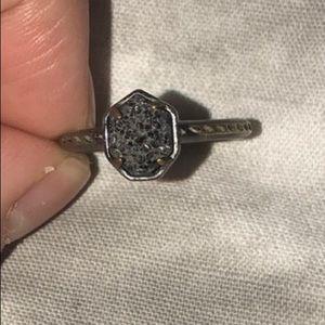 Kendra Scott Black Druzy Ring